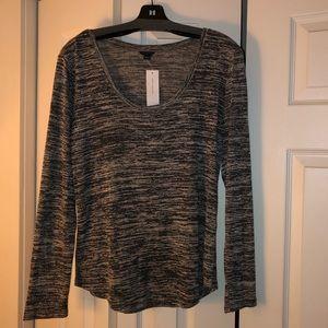 Ann Taylor Scoop-neck Long-Sleeve T-shirt